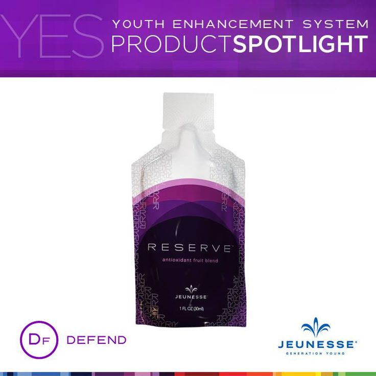 Jump start your day with RESERVE™   RESERVE'S™ superstar ingredient, resveratrol, is accompanied by a supporting cast of other powerful antioxidants like açai, pomegranate, blueberry, dark sweet cherry, aloe vera, grapeseed, and green tea.   Learn more: http://jeunesseglobal.com/docs/productsheets/RESERVE_PRODUCT_SHEET.pdf
