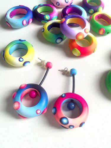 """Polymer Earrings """"Pendientes """"Nidos"""""""" by Madreselva61"""