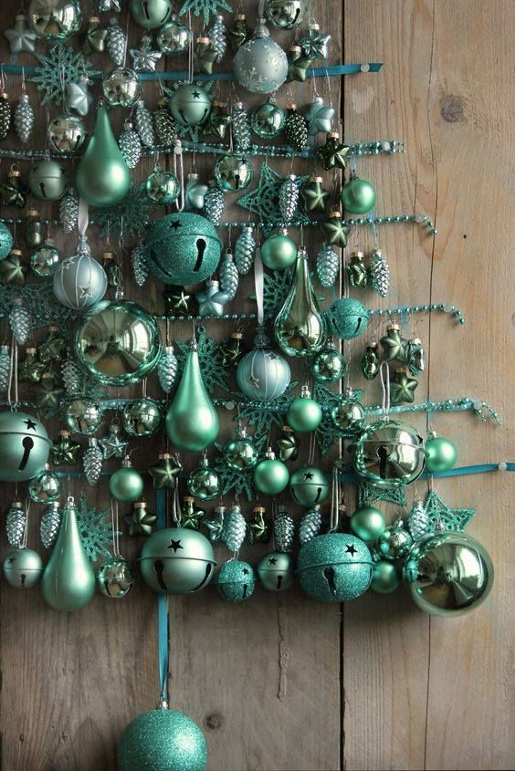 random things that appeal to me on a variety of levels - Duck Egg Blue Christmas Decorations