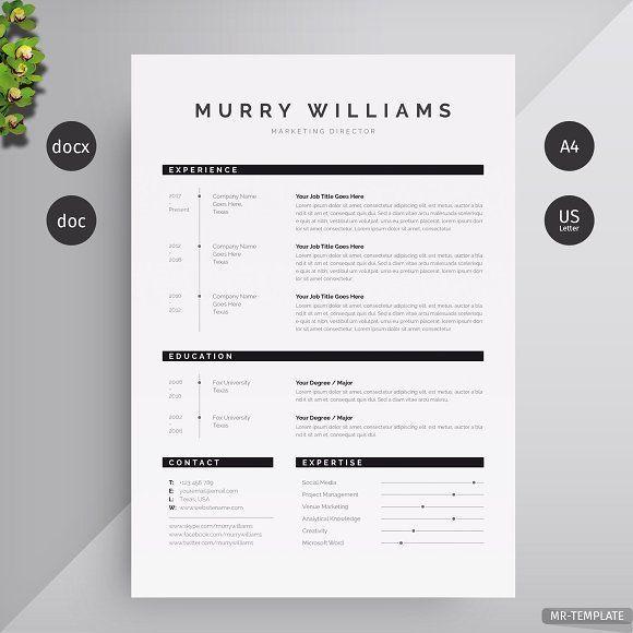 Resume Templates Design Resume Cv Creativework247 Fonts Graphics Photoshop Templates Icons Illus Plantillas Curriculum Disenos De Unas Logos Retro