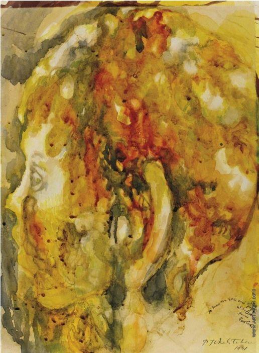 Челищев П. Ф. Этюд для картины «Прятки»  Челищев Павел Федорович [1898—1957] Этюд для картины «Прятки». 1941
