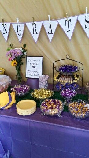 Graduation Reception Table Centerpieces