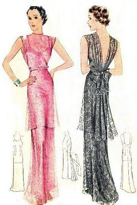 McCall 9054, 1937 #poirot #vintage #dresses #sewing