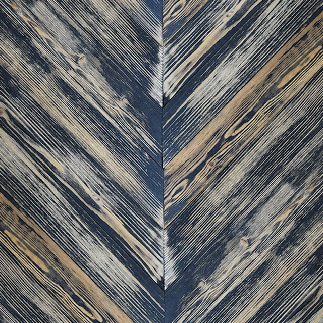 These Ebony Painted Chevron pine barn sidings are colour washed with paint giving the resemblance of faded façades. Endless combinations of the colours below are available.