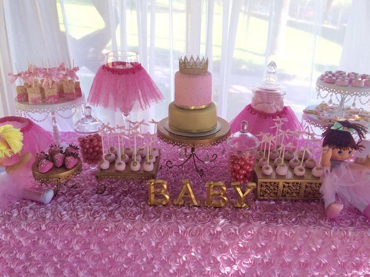 little princess baby shower cake, Tutu and Tiara Baby Shower, tutu baby shower decorations, dessert table decoration