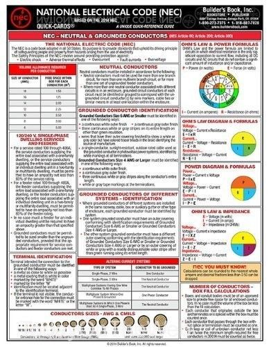 29 best electrical codes images on pinterest electrical code 2014 nec national electrical code laminated 6 page quick card new pamphlet keyboard keysfo Image collections