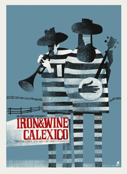 Iron & Wine Calexico poster by Methane Studios