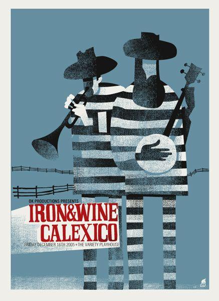 Iron & Wine Calexico poster by Methane Studios