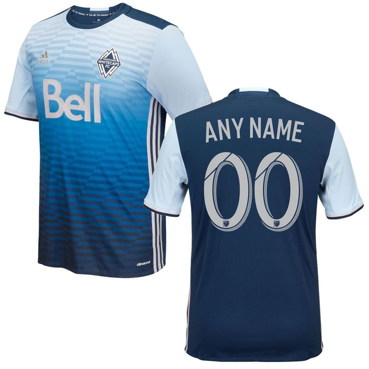 Vancouver Whitecaps FC 2016/17 Any Name Number Away Soccer Jersey Deep Sea Blue