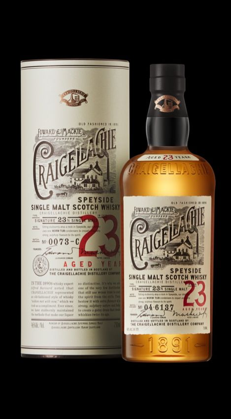 Single Malt Scotch Whisky · Craigellachie Distillery · Region Speyside · ne packing 2014