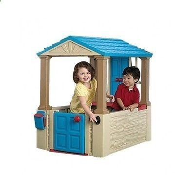 Kids Playhouse Outdoor Pretend Play Toddler Plastic House Table Top Playroom NEW