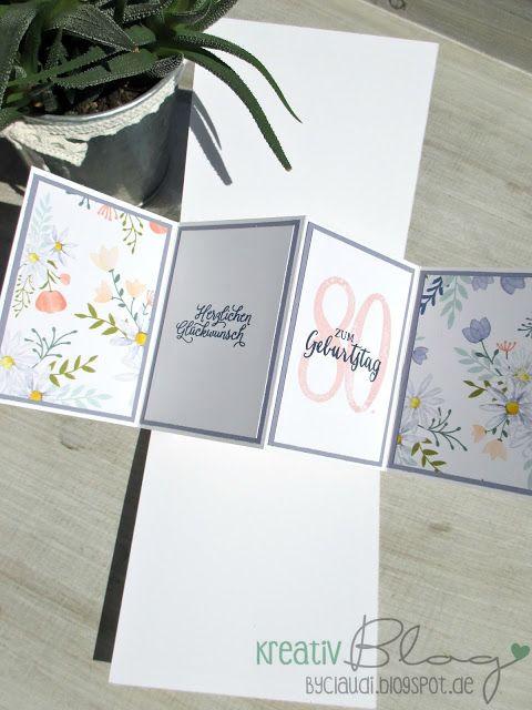Kreativ Blog by Claudi: Pop up Panel Card zum 80.
