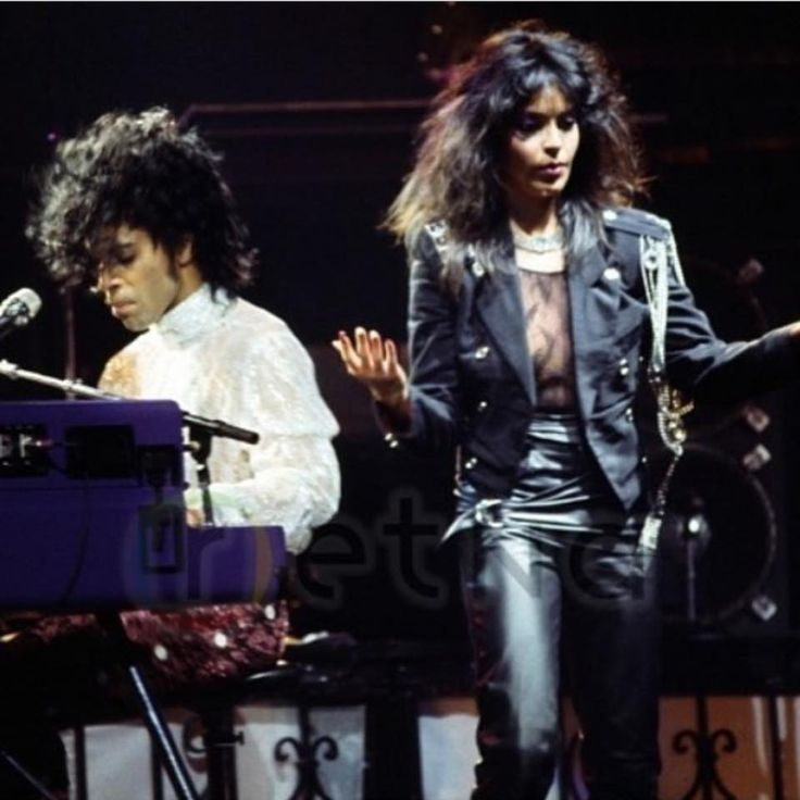 Rare pic of Prince Apollonia Kotero, Purple Rain Tour 1985
