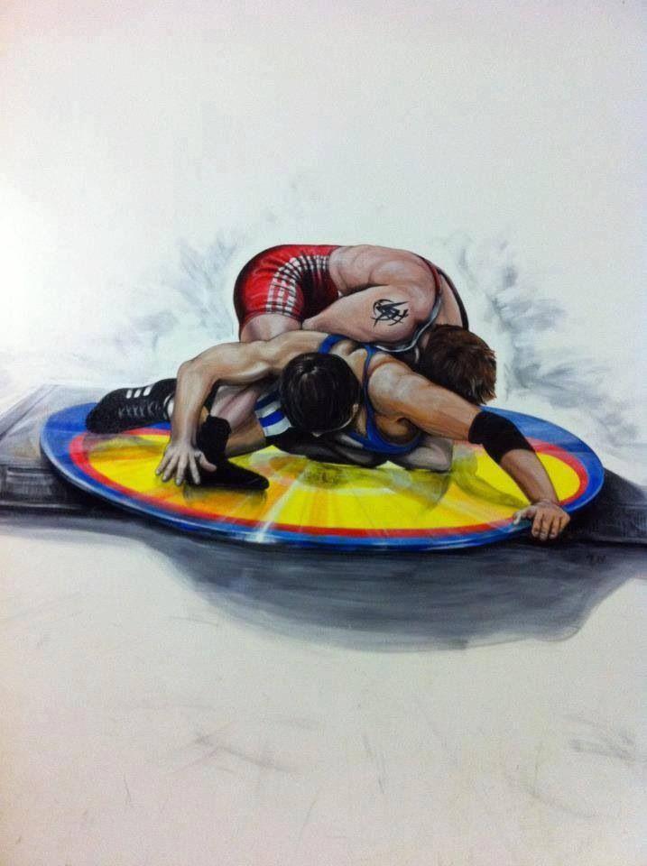 Wrestling. Dibujo de lucha olímpica. Libre. Grecorromana. Freestyle. Grecorroman.