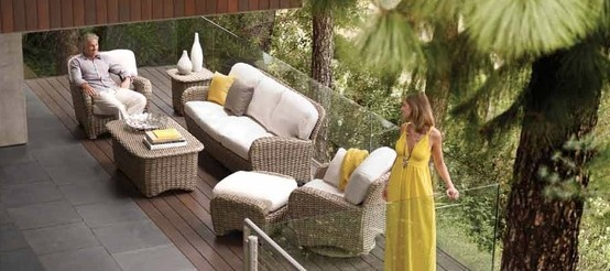Woven Patio Furniture. Gloster Sunset Patio Furniture.