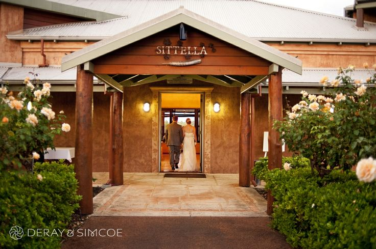 Sittella entrance lined with rose bushes. Wedding reception styling, ideas and inspiration. Reception Venue: Sittella Winery, Swan Valley WA Photography by DeRay & Simcoe