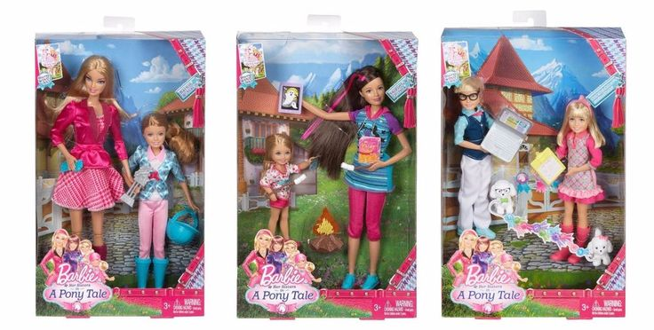 Barbie, her sisters Skipper, Chelsea, Stacie, Max and Marie Dolls 6 pack Playset