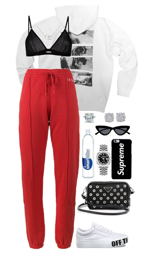"""Untitled #390"" by naomiariel ❤ liked on Polyvore featuring Maison Close, RE/DONE, Prada, Cartier, Rolex and Le Specs"