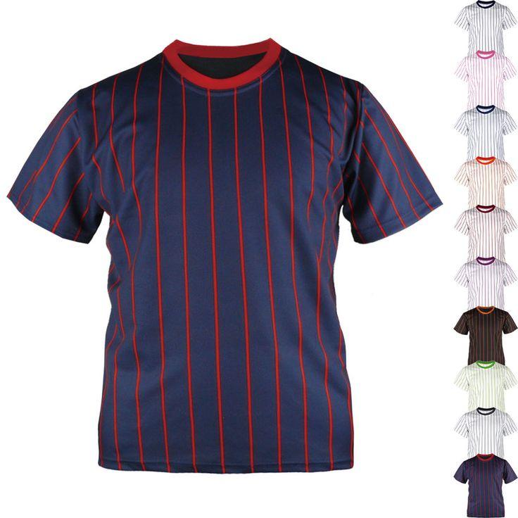 New Men Womens Baseball Blank Striped Jersey Raglan T Shirt Team Sport Tee Tops #hellobincom #RaglanBaseballStripeTShirt