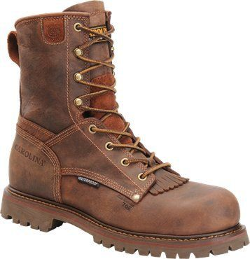 """Carolina Men's 8"""" Waterproof Composite Toe Work Boots - HeadWest Outfitters"""