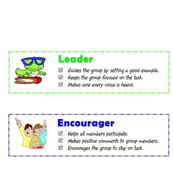 role as an encourager in a group Every team member should have a role – this keeps members  social (eg  encourager, expediter, group process observer, follower) meeting.