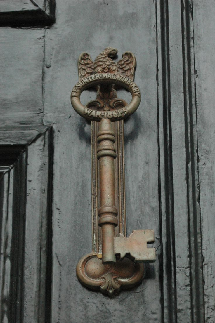 Charleston key door knocker