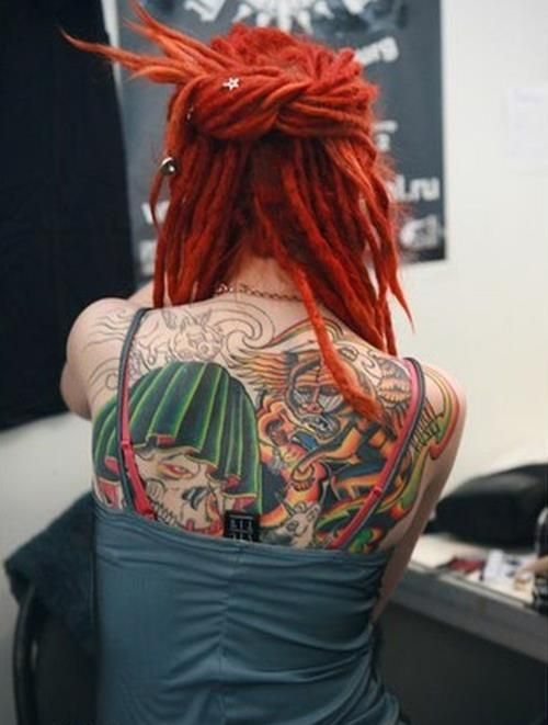 Hard to decide if I love red dreads or rainbow dreads more.....
