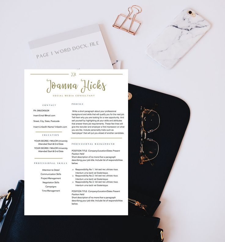 CV Design Modern Resume Template Professional Resume