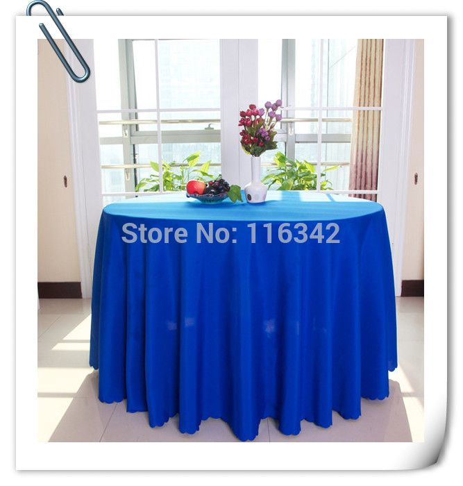 """Hot Sale ! Hot Sale !!! 70"""" Royal Blue Polyester 20pcs  plain table cloth  For Wedding Events &Hotel&Banquet Free  Shipping"""