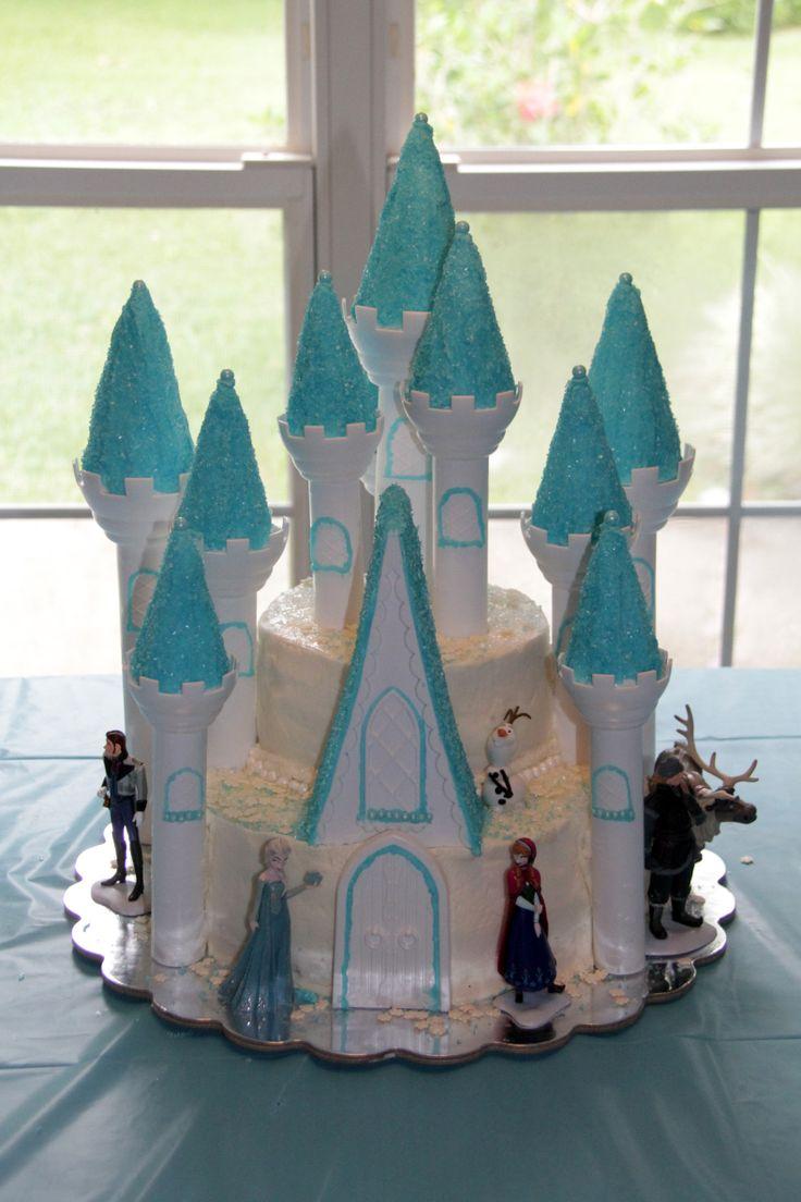 Frozen Birthday Cake 2014 Using The Wilton Castle Cake