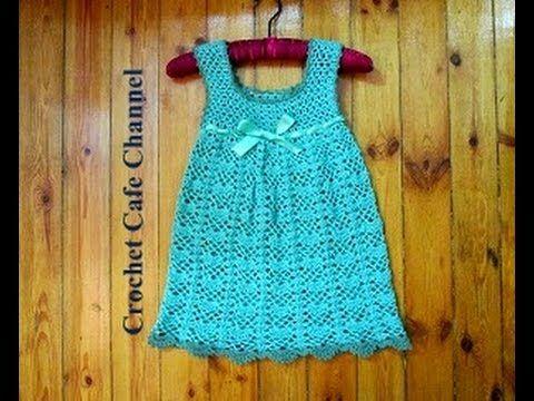 كروشيه فستان لطفلة أو Vest | #كروشيه_كافيه#Crochet Cafe - YouTube