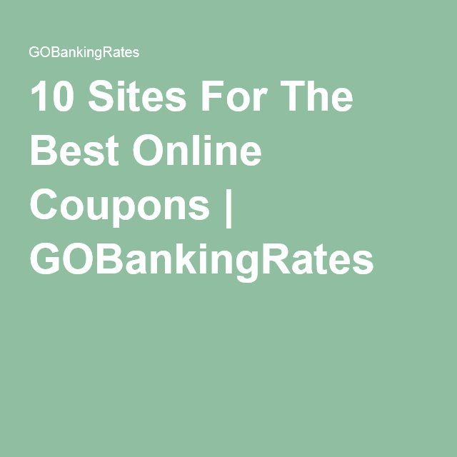 10 Sites For The Best Online Coupons | GOBankingRates