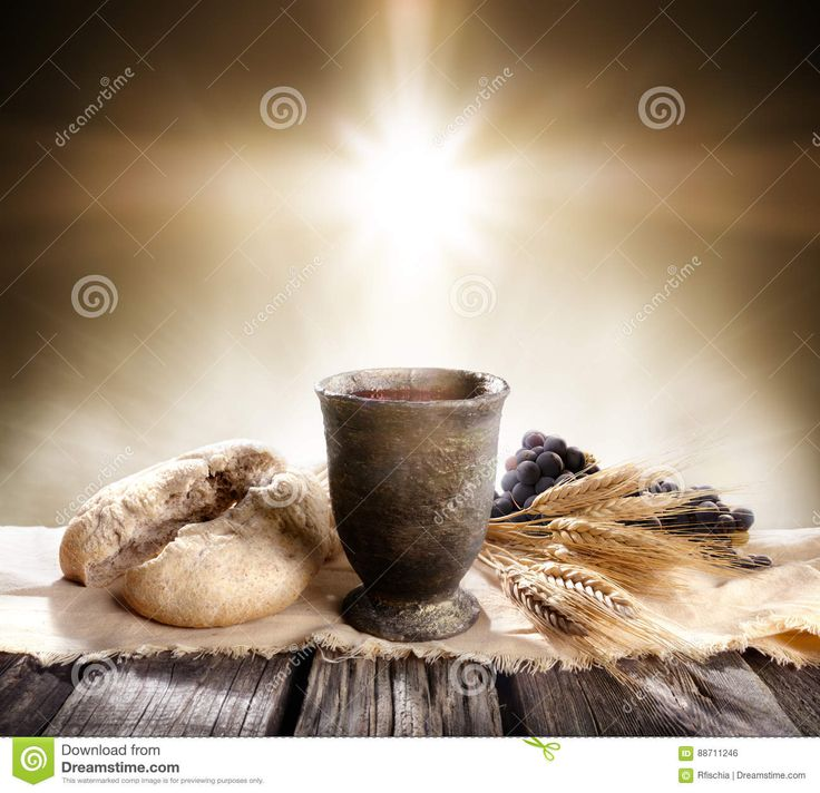 Communion - Unleavened Bread With Chalice Of Wine Stock Photo - Image of wheat, holy: 88711246