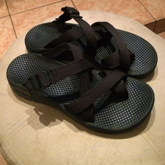 Black slip on chaco sandalssale In excellent condition size 8 Chacos Shoes Sandals