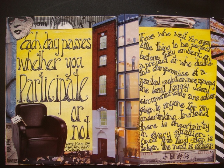 My first journal page.  So cool that someone pinned it!   Wendy Watson - awesome printing