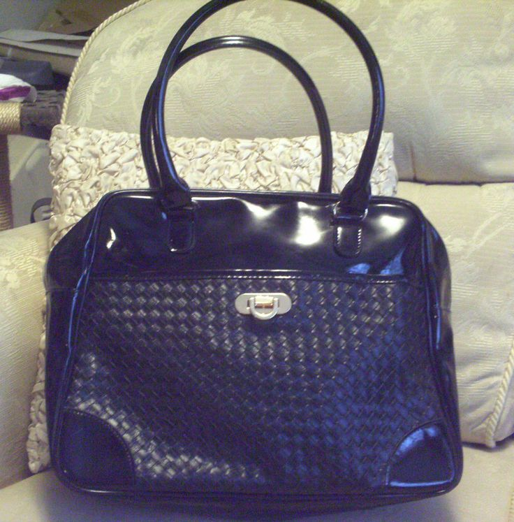 FCUK Patent Large Hand or Shoulder Bag, Brand New!! Black Great for Everything!!