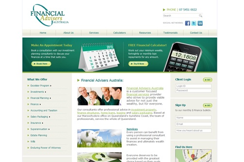 http://www.thecreativecollective.com.au/portfolio-web-design    Financial Advisers Australia had a dated website that needed a makeover. We were happy to assist with this much more modern looking and functional website.