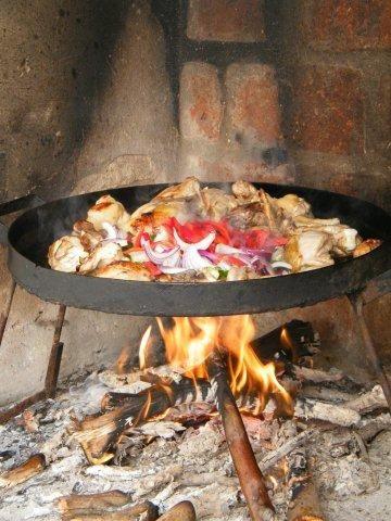 Pollo al Disco de Arado. Rio Negro Argentina