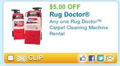 Cleaning carpets? Rent a Rug Doctor save $5, plus get FREE 48 oz cleaner ($14.99 value) – Queen Bee Coupons