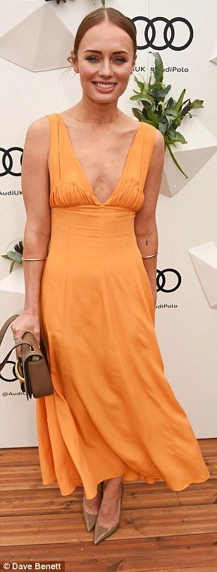 Actress Laura Haddock nailed summery chic in a tangerine gown...