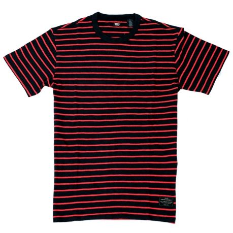 Levi's Skateboarding Collection Skate Striped T Shirt in Black