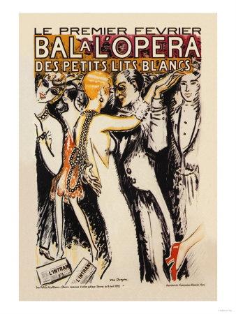 Bal a l'Opera // vintage opera poster