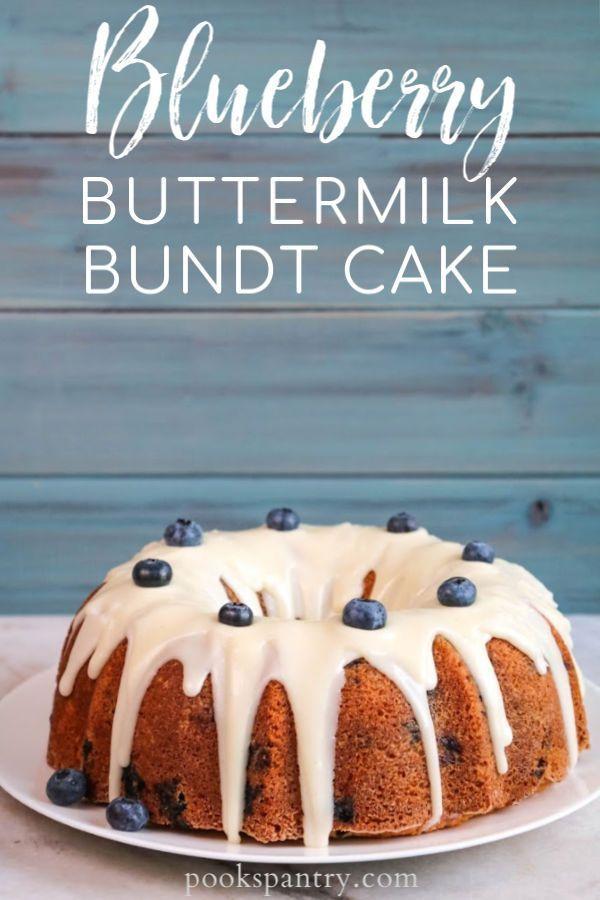 Blueberry Bundt Cake With Buttermilk And Vanilla Bean Glaze Recipe In 2020 Blueberry Bundt Cake Dessert Recipes Healthy Dessert Recipes