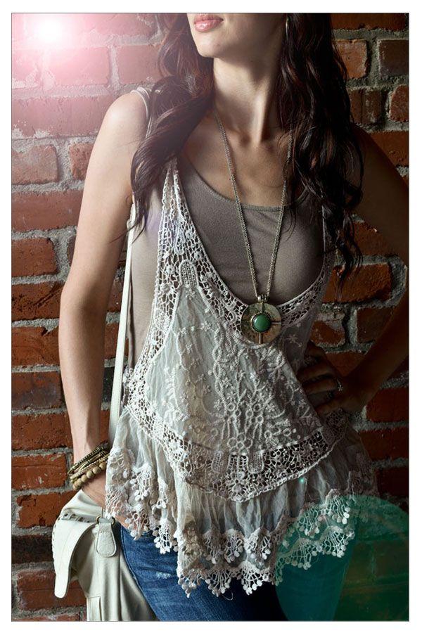 Top and necklace http://parisrags.com/RomanticCollections/P590.aspx