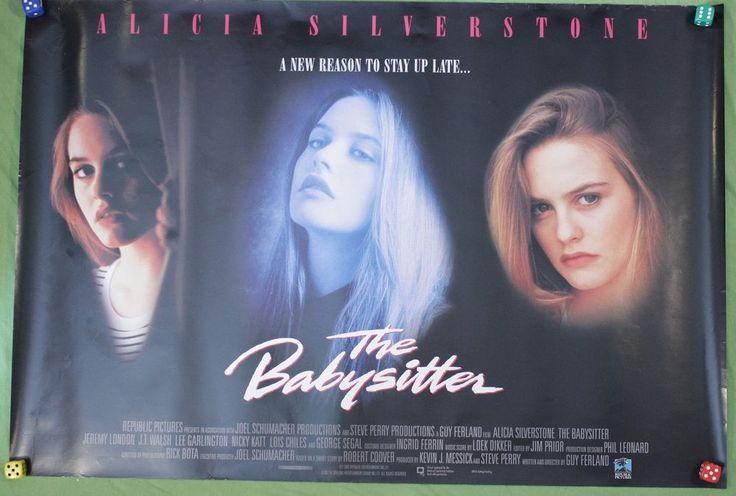 The Babysitter Movie Poster Alicia Silverstone Jeremy London VTG 1995 Thriller