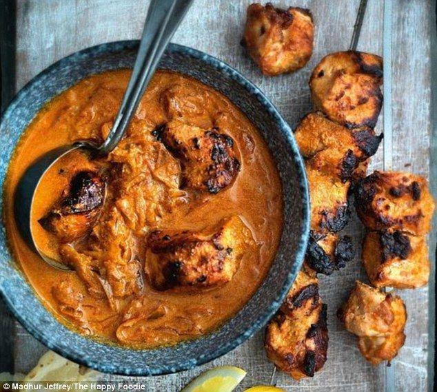 Madhur Jaffrey's Chicken Tikka Masala - get recipe here: http://www.dailymail.co.uk/femail/food/article-4188584/Pinterest-crowns-winners-UK-food-awards.html