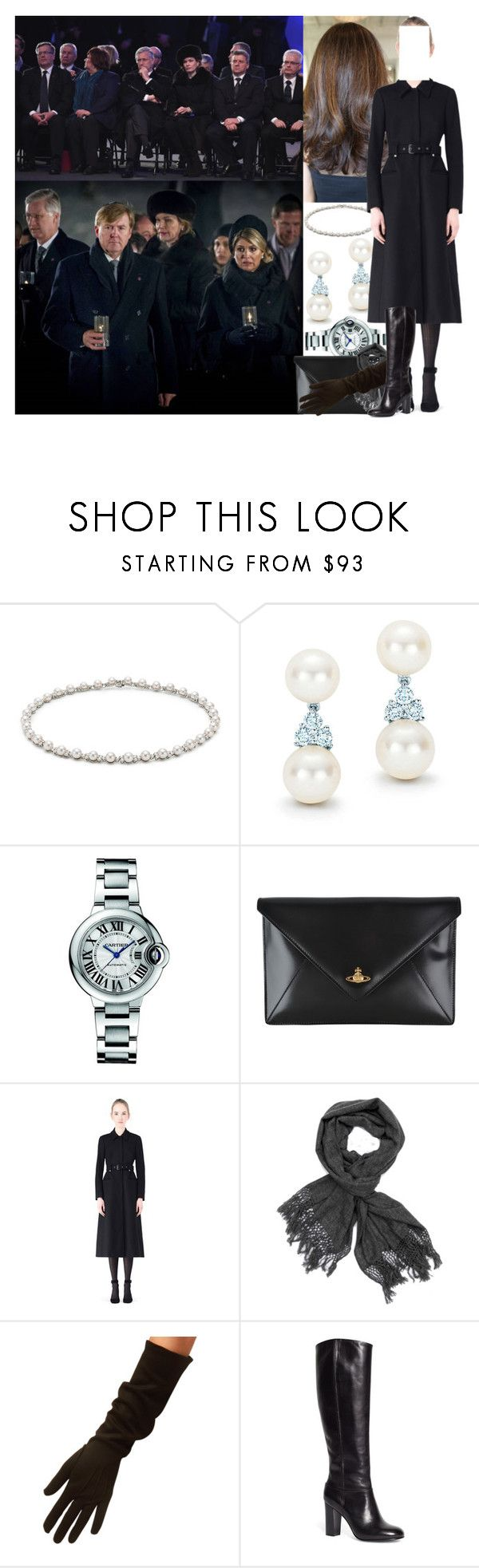 """""""Attending the 70th anniversary of the liberation of Auschwitz"""" by maryofscotland ❤ liked on Polyvore featuring Tiffany & Co., Cartier, Vivienne Westwood, RED Valentino, Cornelia James and Brooks Brothers"""