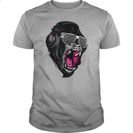 Gorilla Jungle Music Sound Shirt - #dress #hoddies. ORDER NOW => https://www.sunfrog.com/Music/Gorilla-Jungle-Music-Sound-Shirt-Sports-Grey-Guys.html?60505