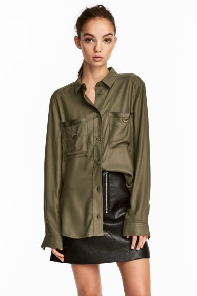 Utility shirt - Khaki green - Ladies | H&M GB 1