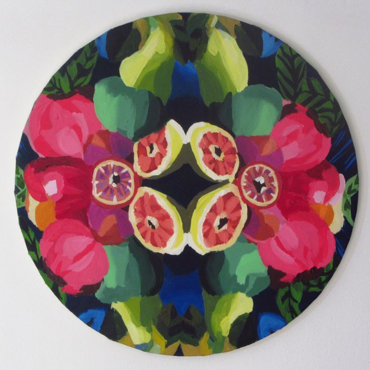 "Anita Varas. ""Caleidoscopio"". Óleo sobre tela, 49 cm diámetro. 2014-2015. #oilpainting #art #arte #oiloncanvas"